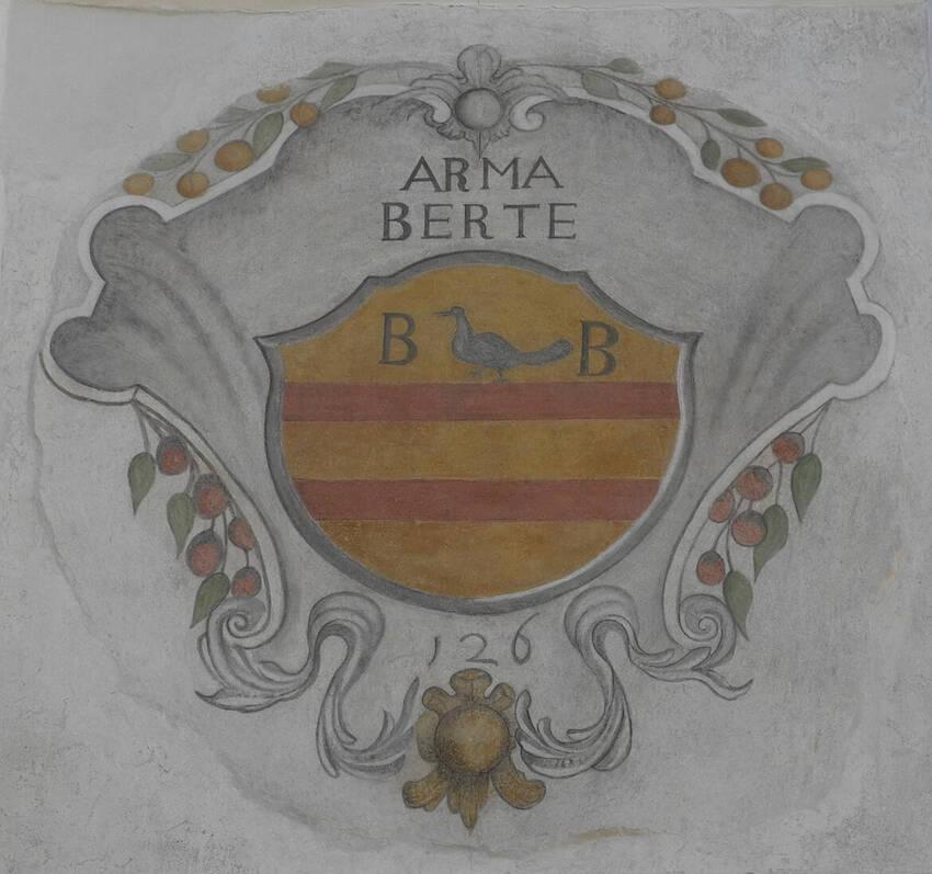 Stemma araldico Bertè / Frazione Cavedine / Pitture murali ...